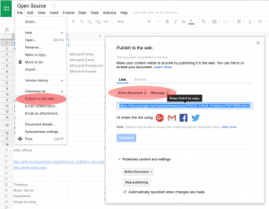 Embedding Google Sheets in your Play Digital Signage content