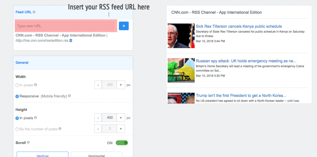 Embedding RRS Feed - Step 1