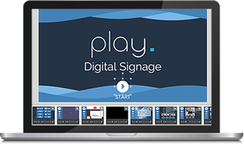 User-friendly digital signage content editor