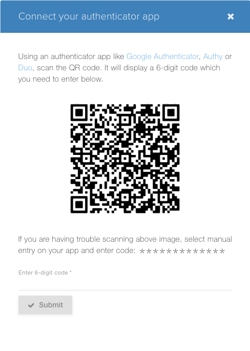 Enable 2FA on playsignage.com by scanning QR code