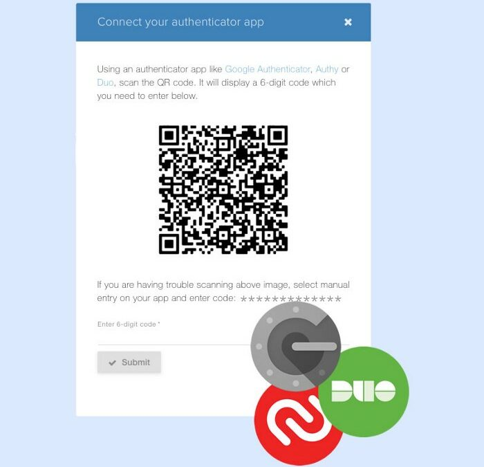 Two-Factor Authentication, Embed HTML Code and Count Up