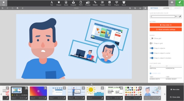 The editor gives you many of the options you might need for your uploaded photos. Resize, crop, rotate, and even change the positioning or transparency of your images all within the editor.