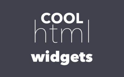 10+ Cool HTML5 Widgets