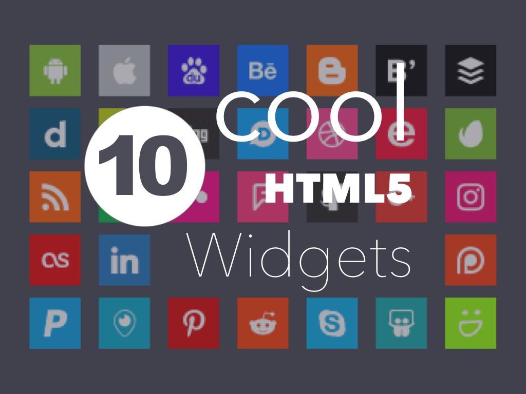 HTML5 Widgets