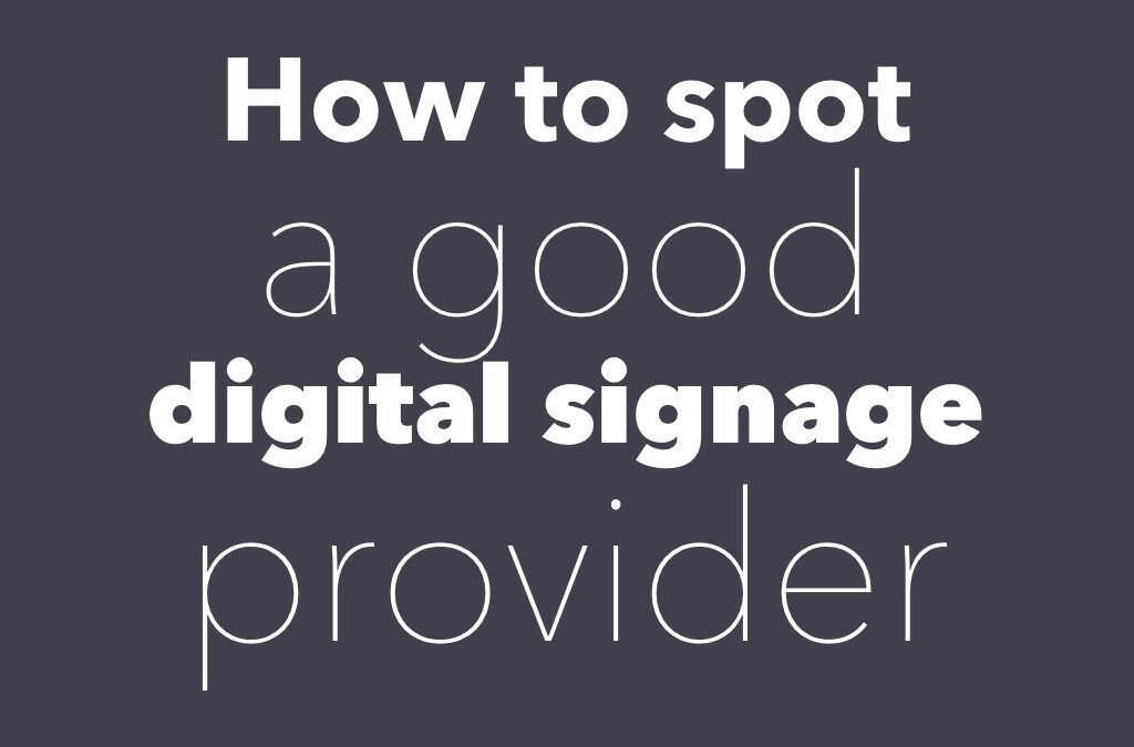 Play Digital Signage support stands out