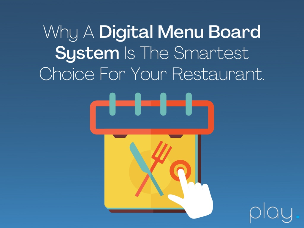 Why A Digital Menu Board System is the Smartest Choice For Your Restaurant