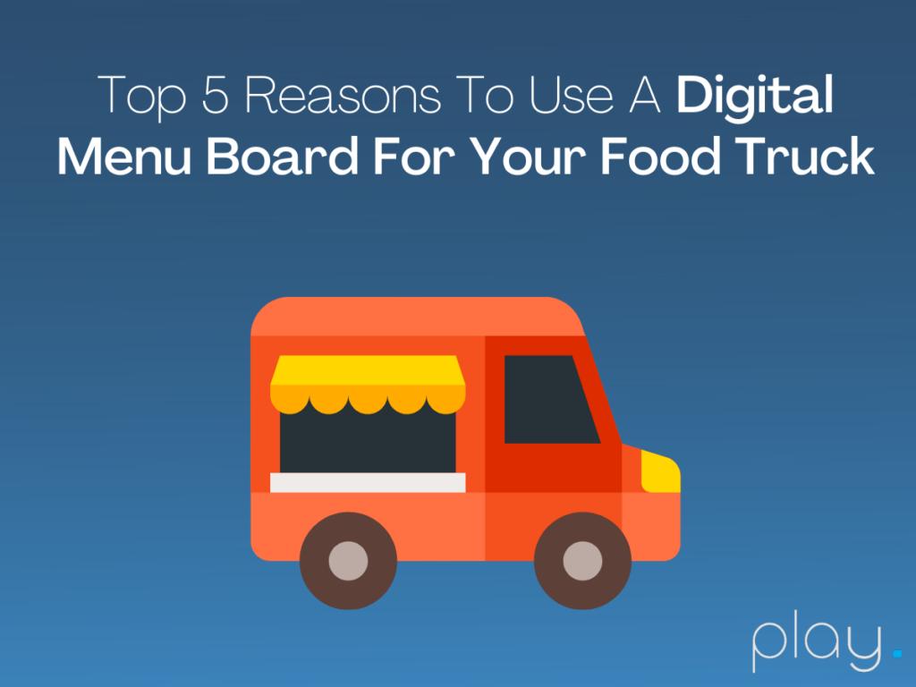 Food Truck Digital Menu Board